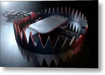 Animal Trap Dramatic Metal Print