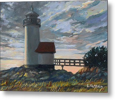 Annisquam Light Metal Print by Eileen Patten Oliver