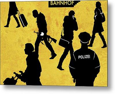 Anti-terrorism Police Metal Print
