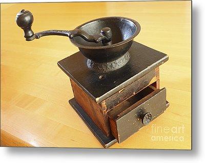 Antique Coffee Grinder Metal Print by John Van Decker