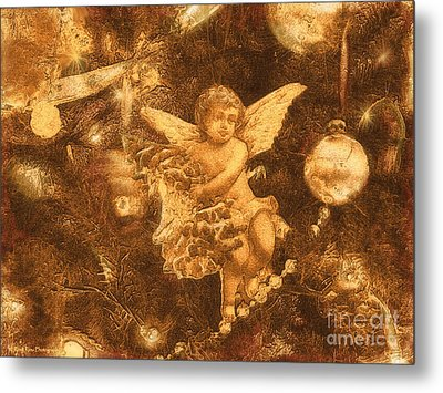 Metal Print featuring the photograph Antiqued Angel Gold by Roxy Riou