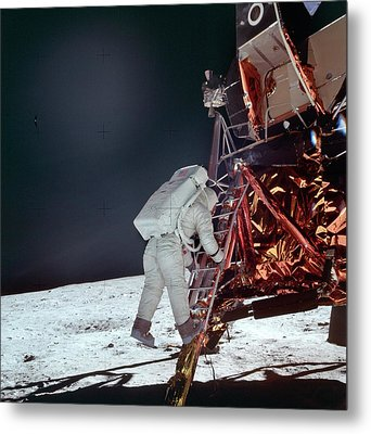 Apollo 11 Moon Landing Metal Print by Image Science And Analysis Laboratory, Nasa-johnson Space Center