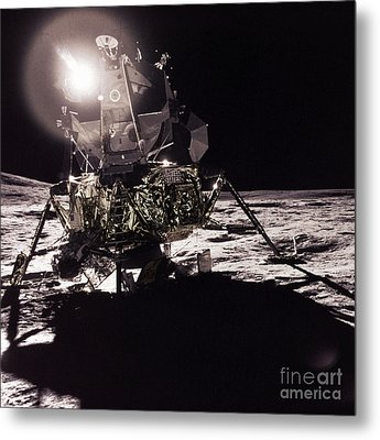 Apollo 17 Moon Landing Metal Print by Science Source