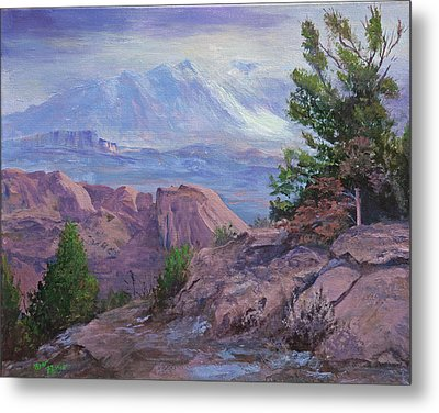 Arches View Point Metal Print by Bev Finger