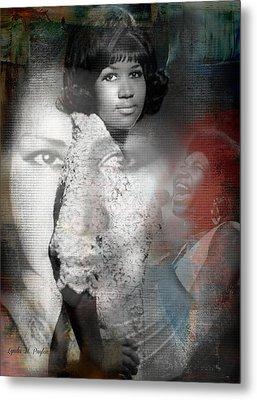 Aretha Franklin Metal Print by Lynda Payton