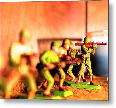 Army Men  Metal Print by Jon Baldwin  Art