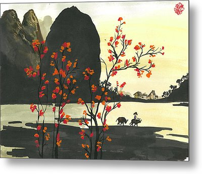 Arrival Of Spring Metal Print by Amberlyn How