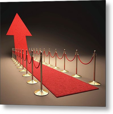 Arrow And Red Carpet Metal Print by Ktsdesign