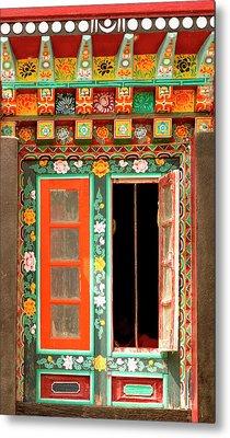 Art In Buddhist Monastery Architecture Metal Print by Jaina Mishra