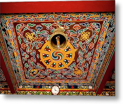 Art In The Architecture Of A Buddhist Metal Print by Jaina Mishra
