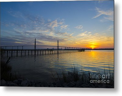 Metal Print featuring the photograph Sunset Over The Charleston Waters by Dale Powell