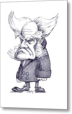 Arthur Schopenhauer Metal Print by Gary Brown