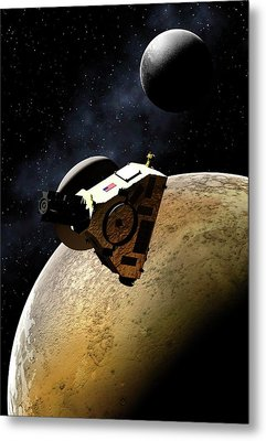Artwork Of New Horizons Mission Metal Print by Mark Garlick