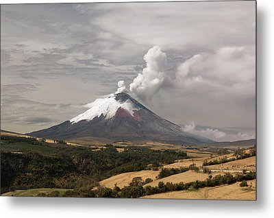 Ash Plume Rising From Cotopaxi Volcano Metal Print