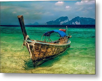 Asian Longboat Metal Print