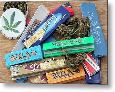 Assorted Cannabis Products Metal Print