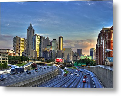 Atlanta Sunset Reflections Metal Print by Reid Callaway