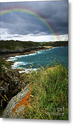 Atlantic Coast In Brittany Metal Print by Elena Elisseeva