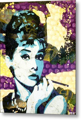 Audrey All Day Metal Print by Bobby Zeik