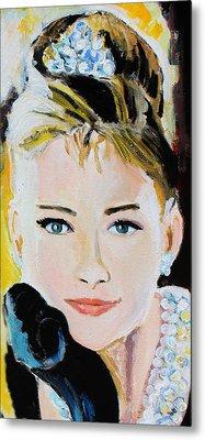 Audrey Hepburn  Metal Print by Jon Baldwin  Art