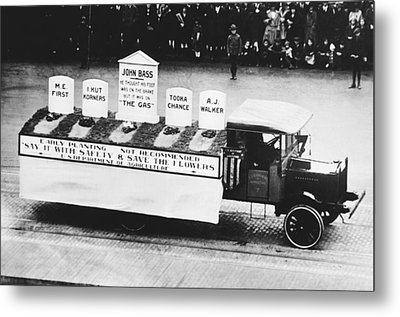 Auto Safety Parade Metal Print by Underwood Archives