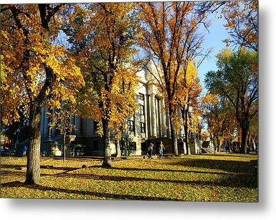 Autumn At The Courthouse Metal Print