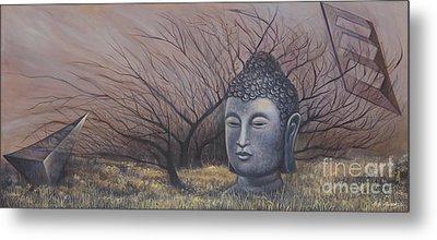 Autumn Buddha Metal Print