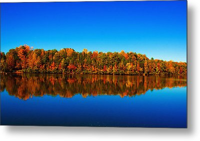 Metal Print featuring the photograph Autumn Reflections by Andy Lawless