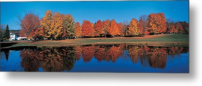 Autumn Trees Laurentide Quebec Canada Metal Print by Panoramic Images