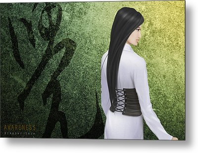 Awareness Ver.a Metal Print by Hiroshi Shih