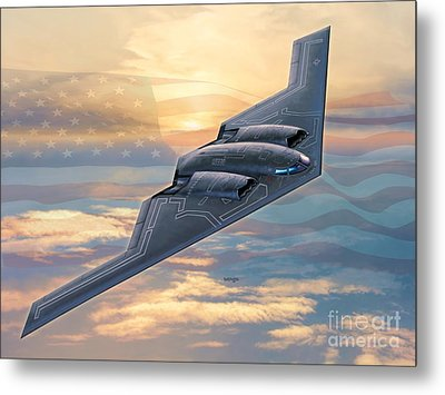 B-2 Spirit Metal Print by Stu Shepherd