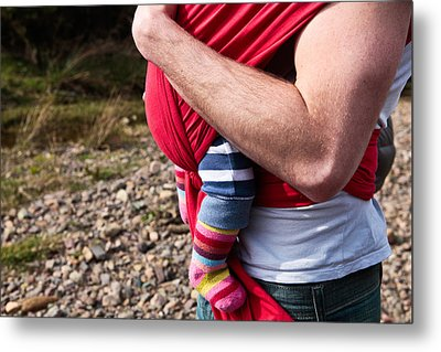 Baby Sling Metal Print by Tom Gowanlock