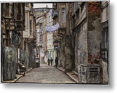 Back Street Metal Print by Joan Carroll