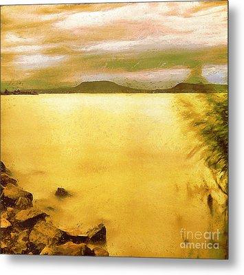 Balaton Landscape Metal Print by Odon Czintos