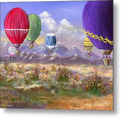 Metal Print featuring the painting Balloons by Jamie Frier