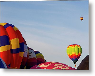 Balloons Lifting For The Mass Ascension Metal Print