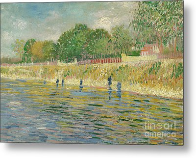 Bank Of The Seine Metal Print by Vincent van Gogh