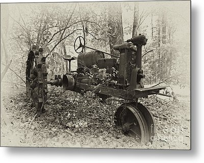 Barksdale Tractor Metal Print by Russell Christie
