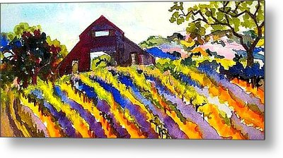 Barn In Sonoma Metal Print