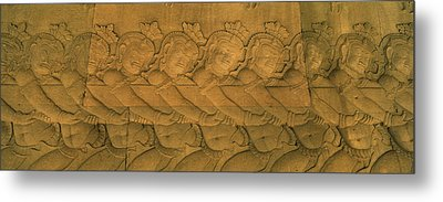 Bas Relief In A Temple, Angkor Wat Metal Print by Panoramic Images