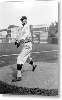 Baseball Star Walter Johnson Metal Print by Underwood Archives