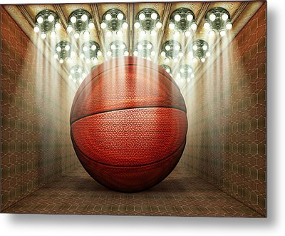 Basketball Museum Metal Print by James Larkin