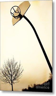 Basketball Net Metal Print by Birgit Tyrrell
