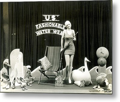 Bathing Suits Store Display Metal Print by Underwood Archives