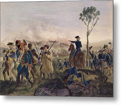 Battle Of Bennington, 1777 Metal Print by Granger