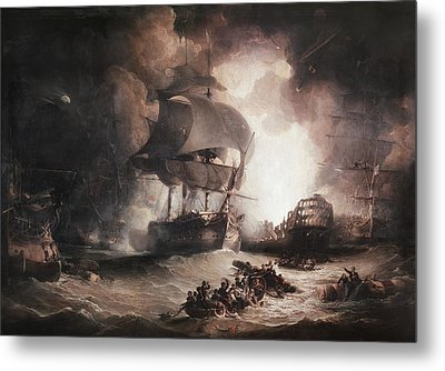 Battle Of The Nile, 1798 Metal Print by Granger