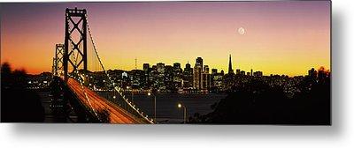 Bay Bridge San Francisco Ca Usa Metal Print