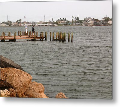 Bay Fishing Metal Print