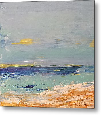 Metal Print featuring the painting Beach by Diana Bursztein