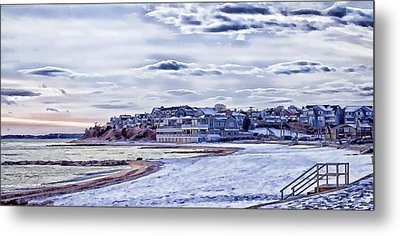 Metal Print featuring the photograph Beach In Winter Photo Art by Constantine Gregory